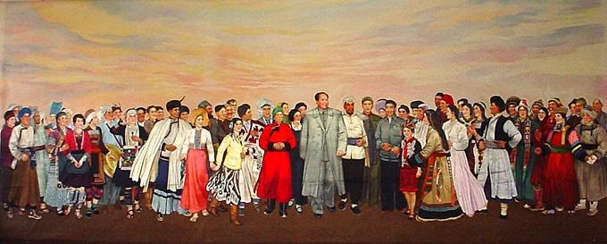 五十六个民族大团结-走进人民大会堂的金彩霞湘绣
